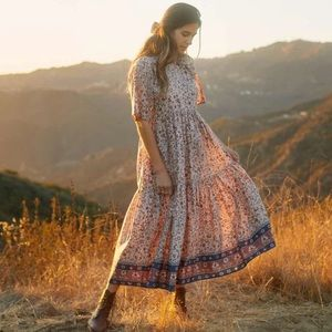 christy dawn | the theo dress in sand anemore vine